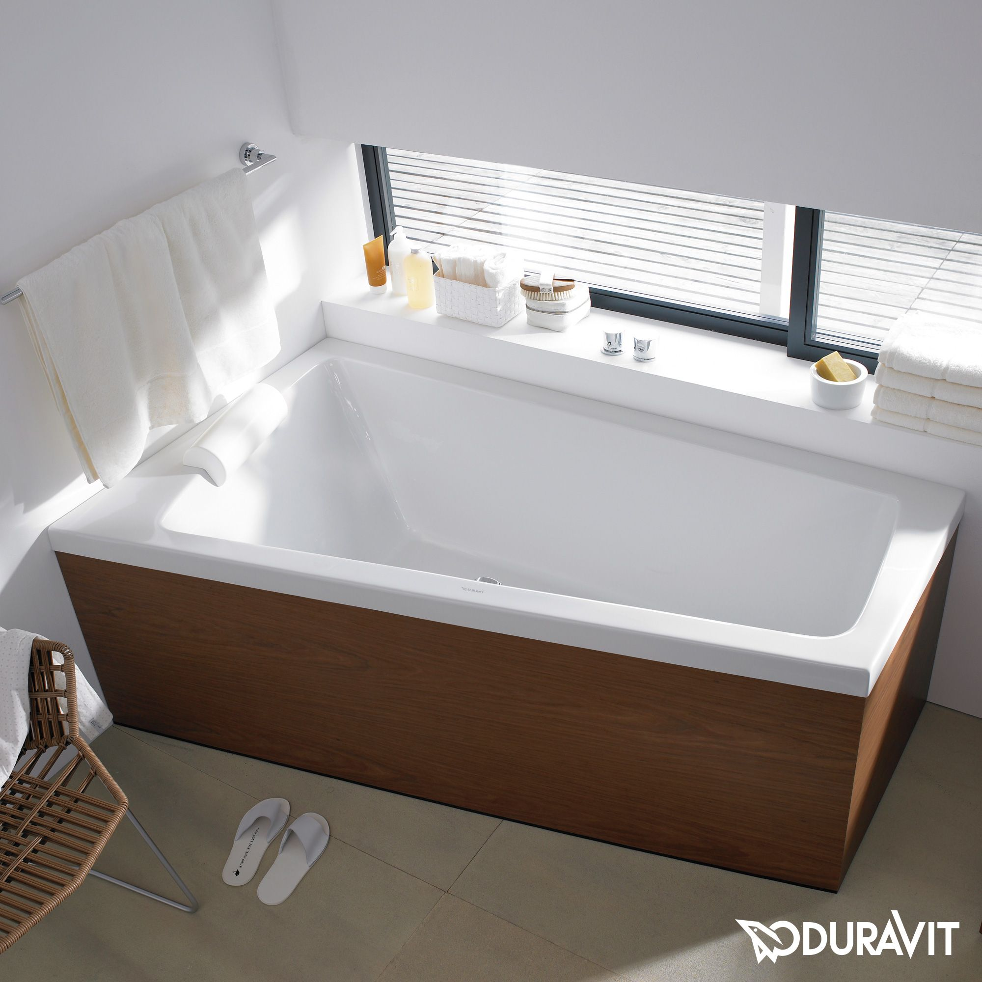 Badezimmer ideen mit wanne duravit paiova badewanne ecke links einbauversion  bad  pinterest