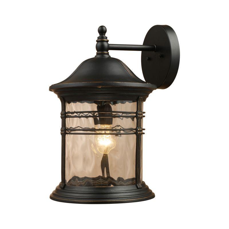 Elk lighting 08163 madison single light outdoor wall sconce matte black outdoor lighting wall sconces