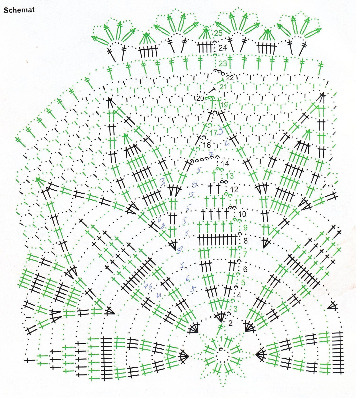 serwetka 36 - schemat | Crochet-H-Medium | Pinterest | Häkeln ...