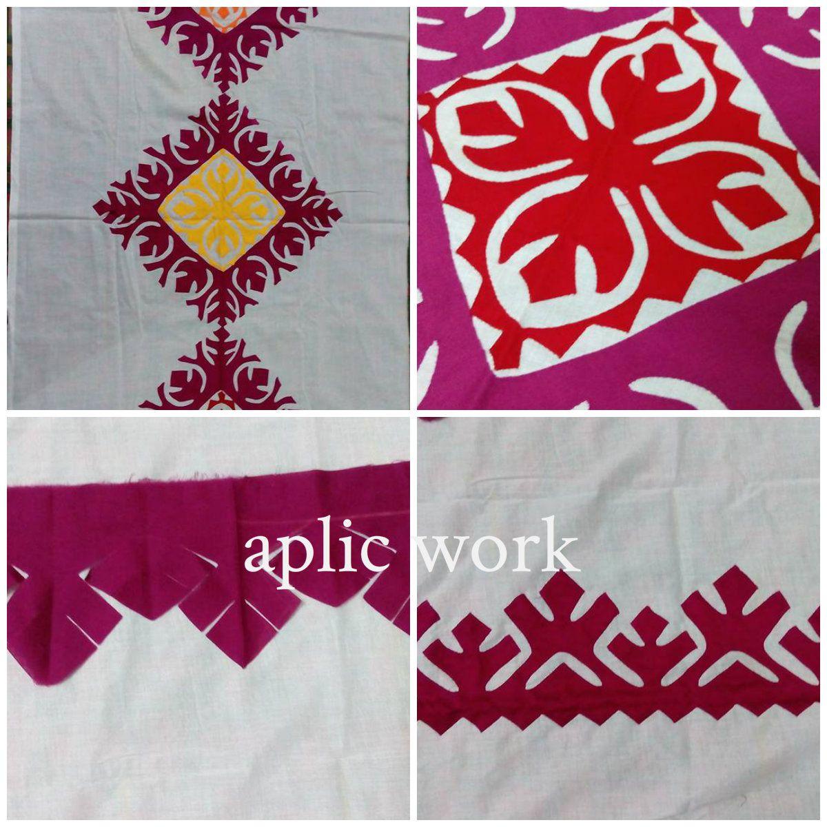 Ribbon work bed sheets designs - Aplic Work