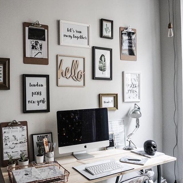 New post deco on my blog decoration bureau cadres sur noholita