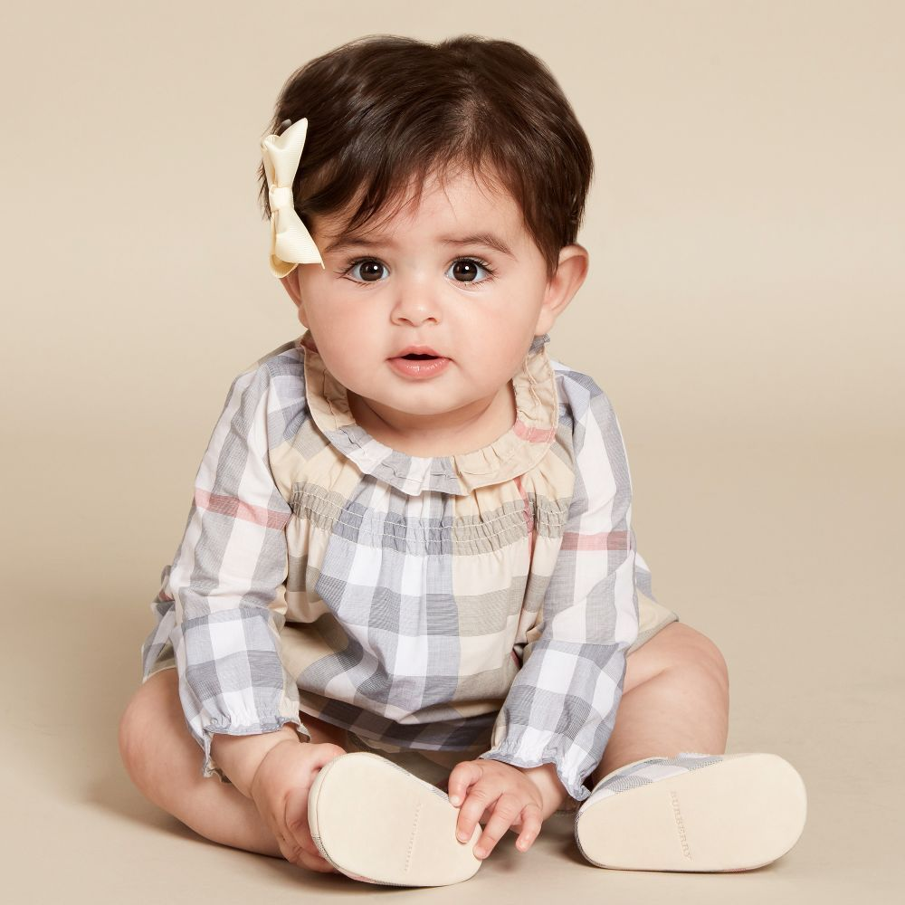 799bd1baa33d7 Burberry - Baby Girls Beige Check Dress