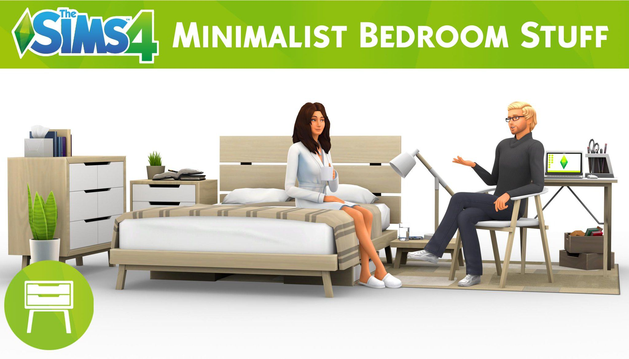 The Sims 4 Minimalist Bedroom Fanmade Custom Stuff Pack