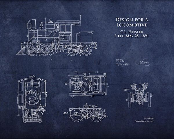 1800s steam engine blueprint art print by sara h blueprint art and art collectibles print featuring the digital art 1800s steam engine blueprint by sara harris malvernweather Image collections