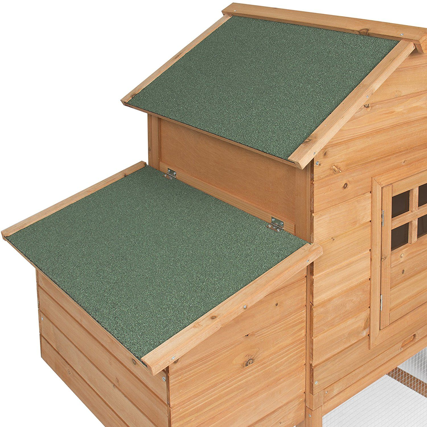 Best Choice Products 75 Wooden Chicken Coop Backyard Nest Box Wood
