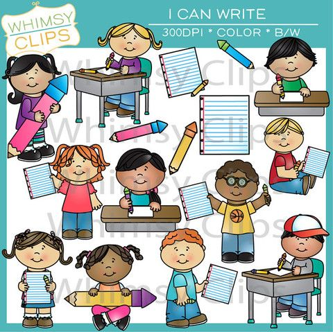 The I Can Write clip art pack comes with 32 designs in high resolution 300dpi png and jpg formats. All images come in both color and black & white.