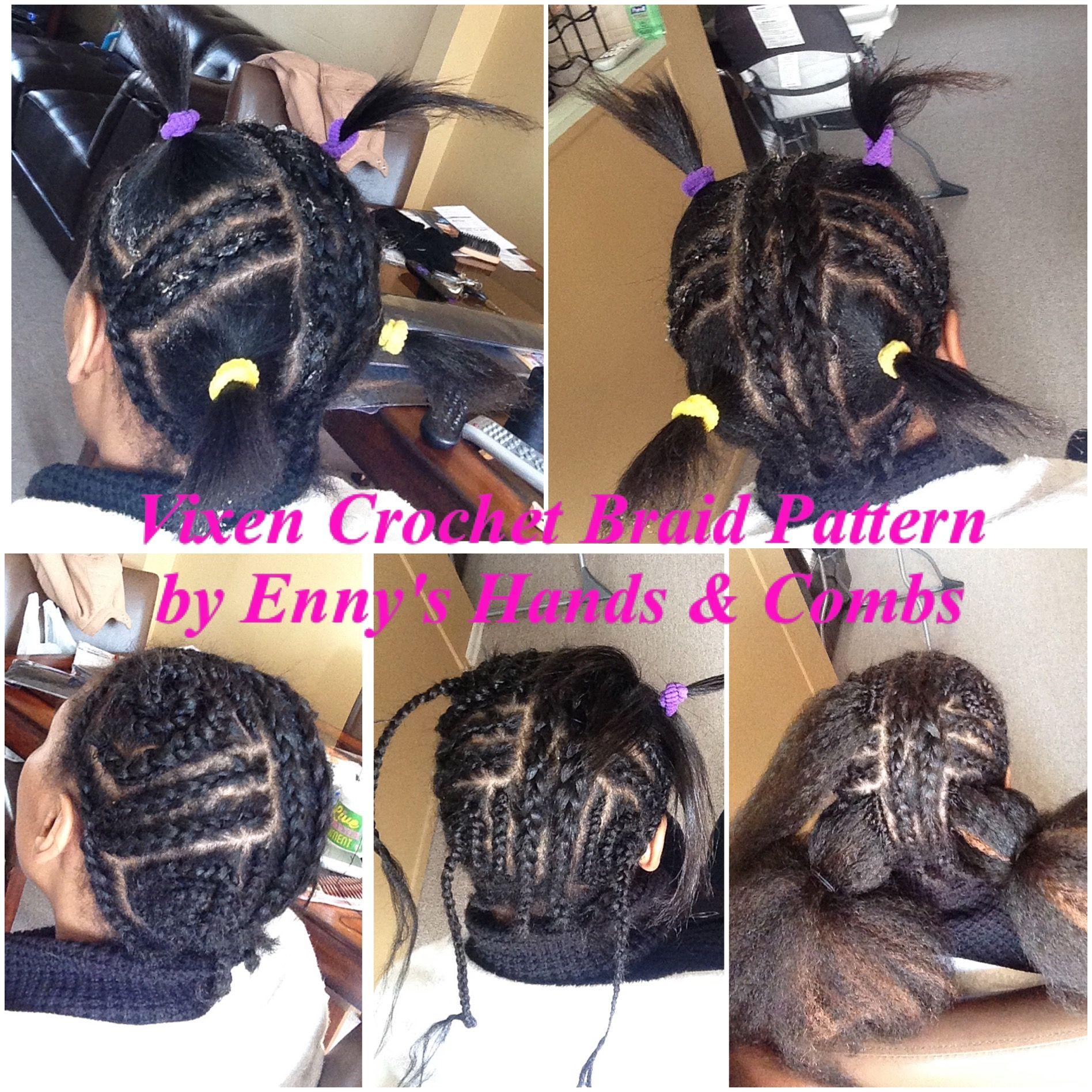 Vixen Sew In Crochet Weave Braid Pattern | Styles by Enny\'s Hands ...