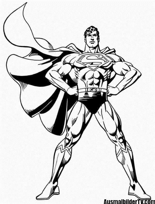 superman ausmalbilder | Superhero coloring pages, Superman ...