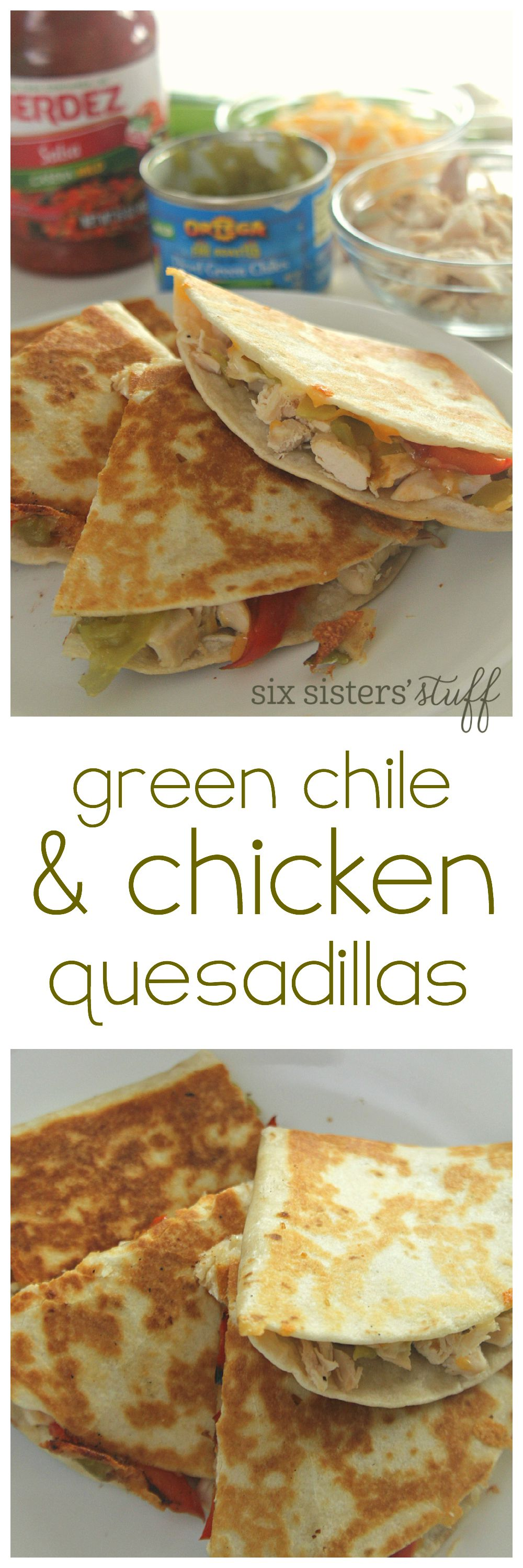 Green Chile And Chicken Quesadillas Recipe Mexican Food Recipes Recipes Food