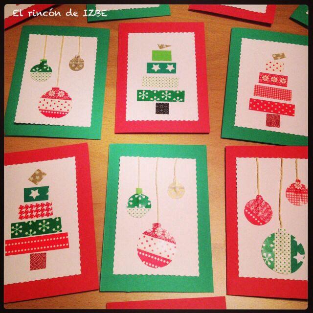 Postales de navidad 100 hechas a mano izbe pinterest - Ideas postales navidad ...