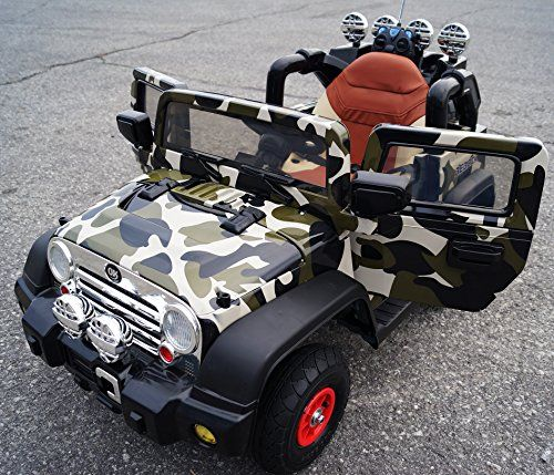 Kids Camo Jeep Wrangler Battery Operated Ride On With Wrangler