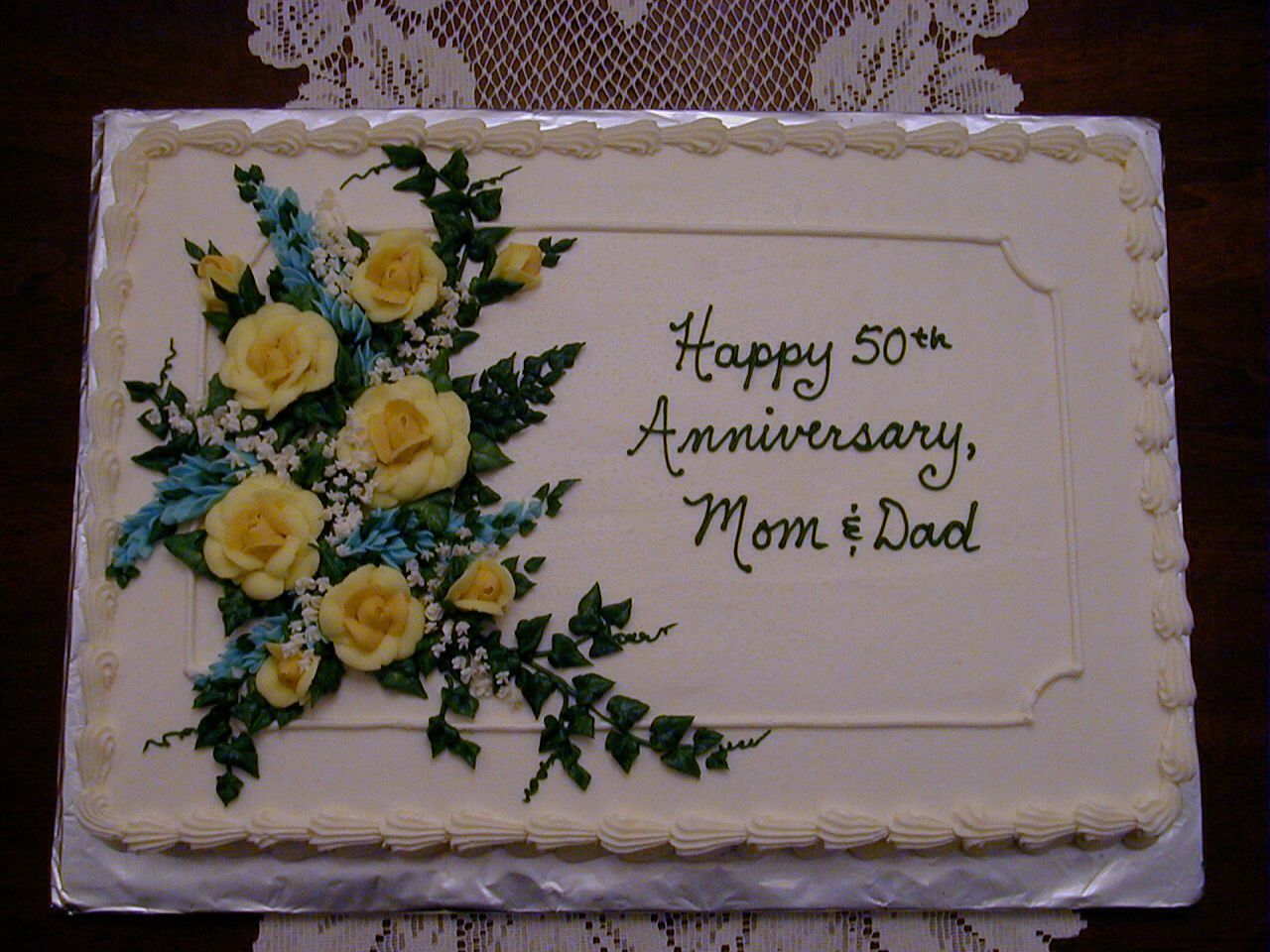 50th anniversary Special desserts, Wedding cakes, Party