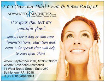 Lehigh Valley Skin Care Botox Party Skin Therapist Botox