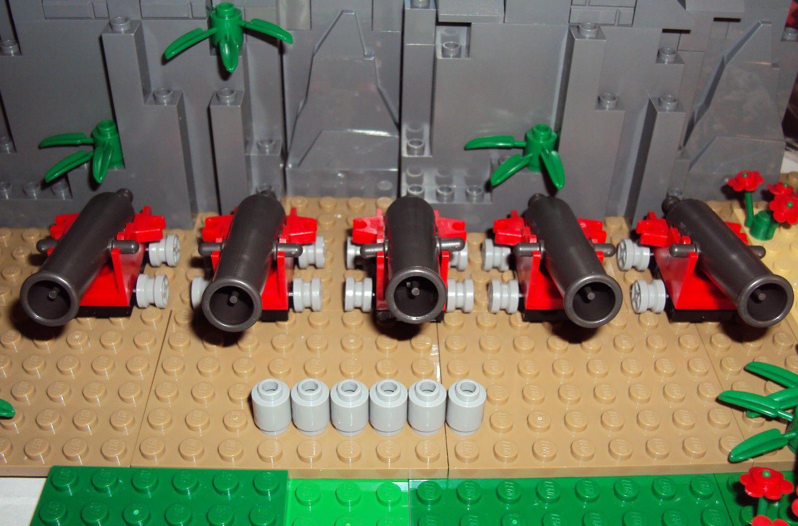 Lego Weapon Dark Gray Non SHOOTING CANNON  Base Pirates Ship ☀️NEW