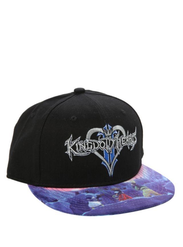 4174449309af3 Disney Kingdom Hearts Snapback Ball Cap