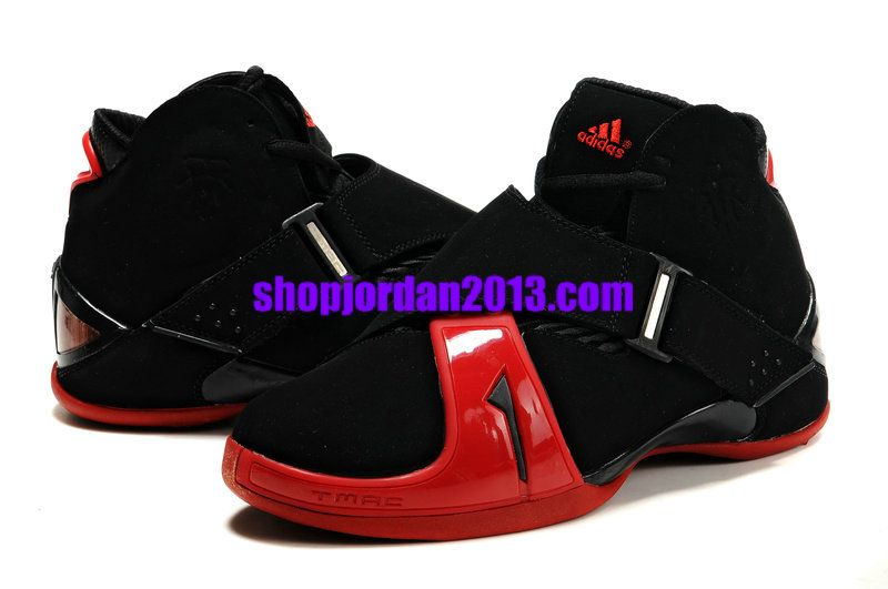 new product 72df1 52f7e Adidas T Mac 5(V) Tracy McGrady Shoes Black Red Cheap NBA Basketball Shoes   Black  Womens  Sneakers