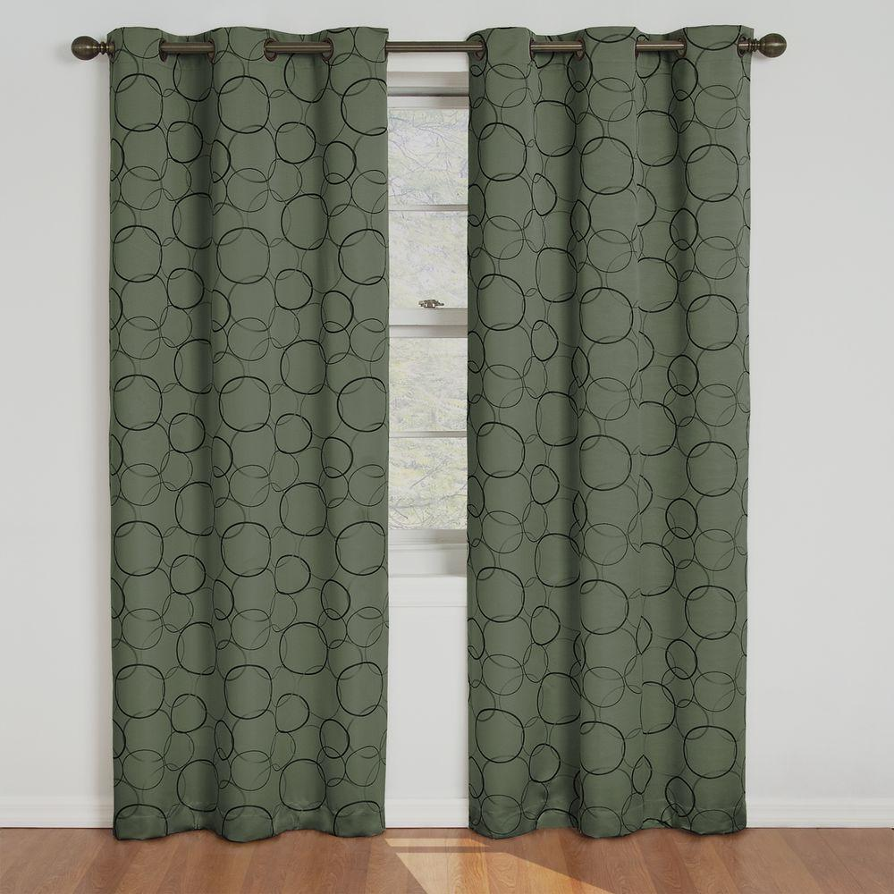 Eclipse Meridian Blackout Window Curtain Panel In Sage Green 42 In W X 84 In L Panel Curtains Eclipse Curtains Drapes Curtains