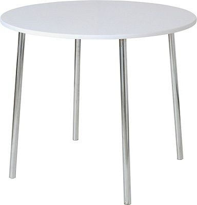 Buy Home White Round Kitchen Dining Table At Argos Co Uk