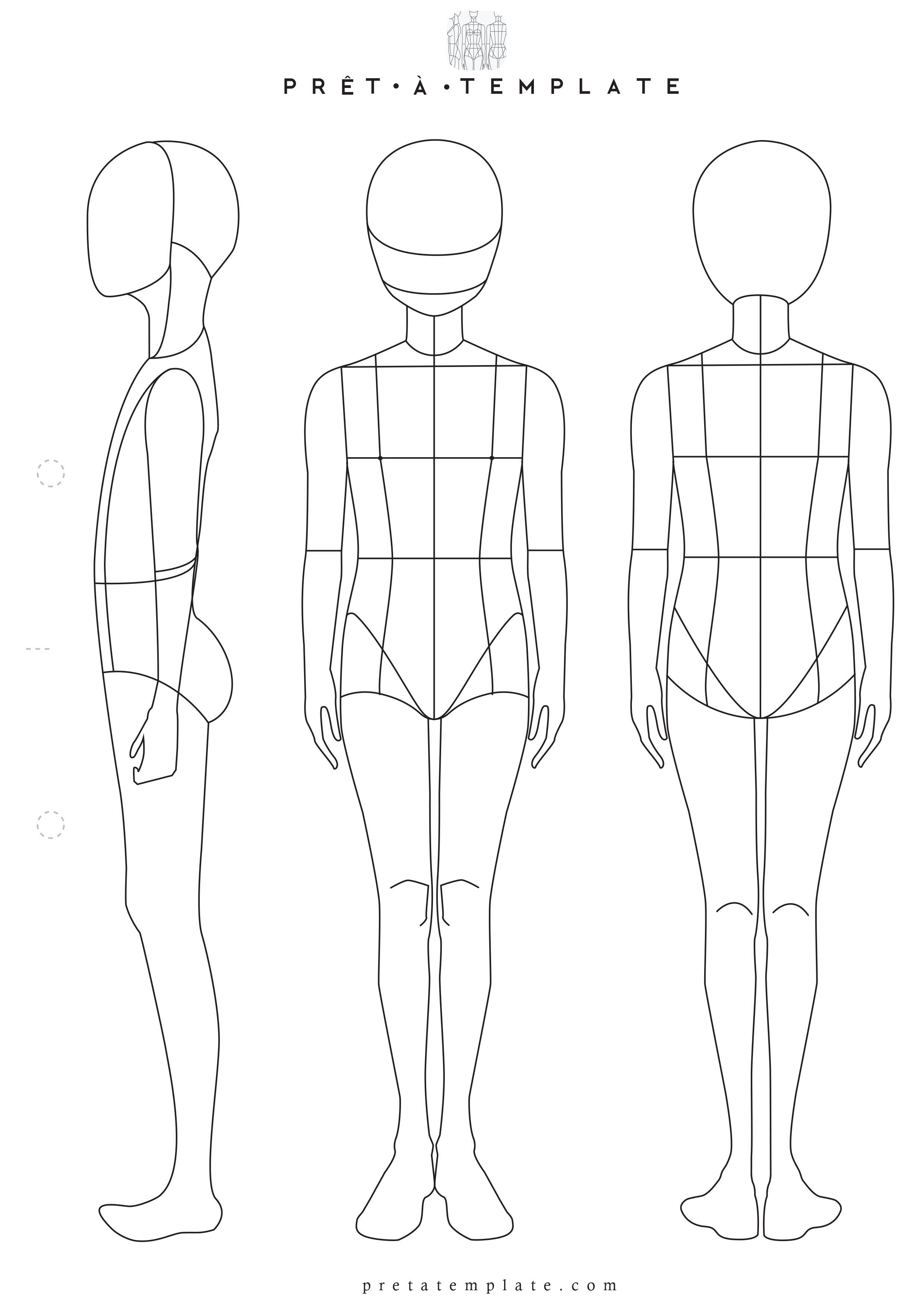 Teen Tenager Body Figure Fashion Template D I Y Your Own