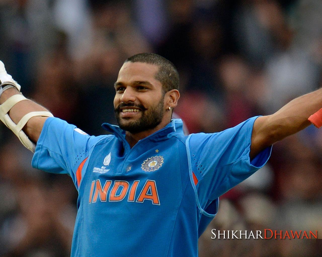 Shikhar Dhawan Indian Cricketer Hd Wallpaper Indian Cricketer