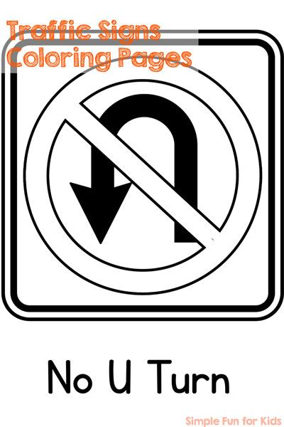 Traffic Signs Coloring Pages Fun Activities For Preschoolers