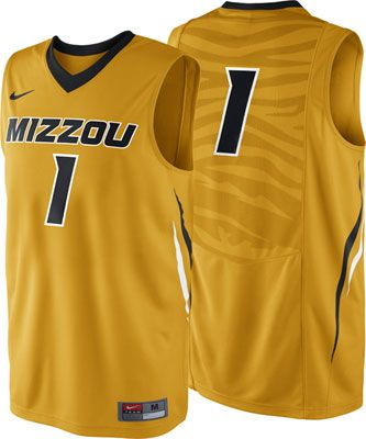 brand new 8545e 53f6e Missouri Tigers Gold Nike Basketball Jersey #missouri ...