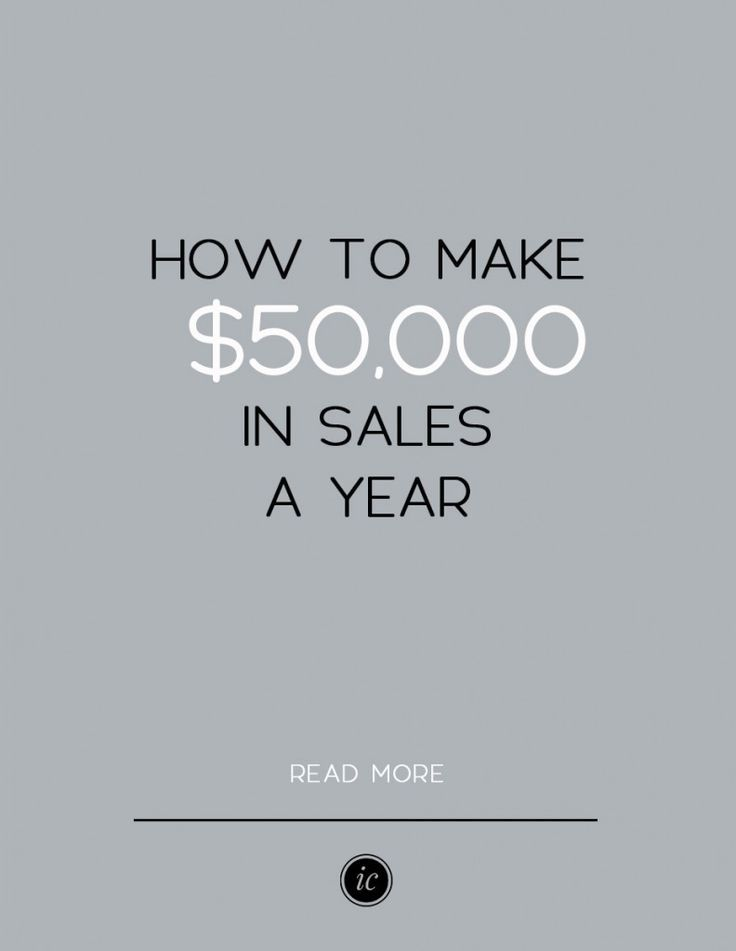 4 Details you need to know if you want to make $50,000 in sales a year with your business.   Imperfect Concepts #smallbusiness #advice #blogging