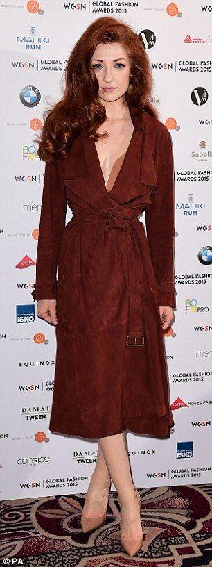 Nicola Roberts Cinches In Her Slim Figure In Plunging