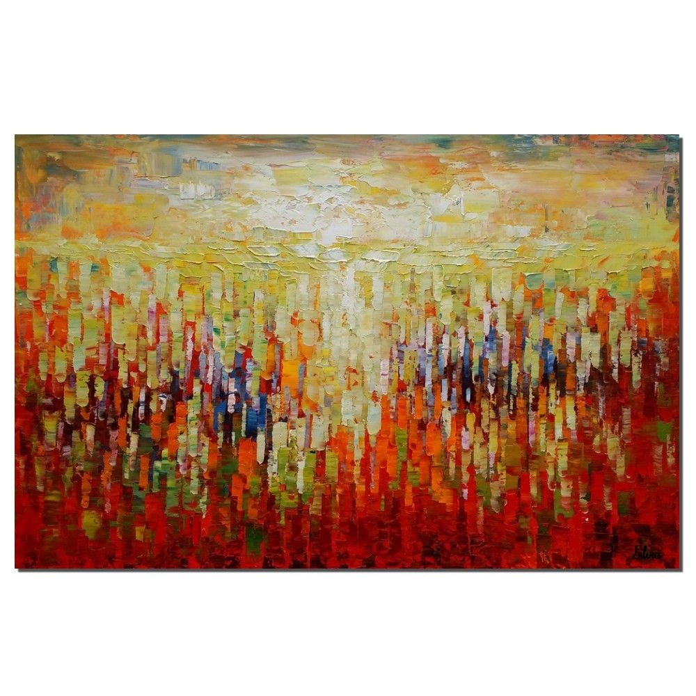 Popular Abstract Canvas Art, Oil Painting, Large Pa   Paint brushes  EN32