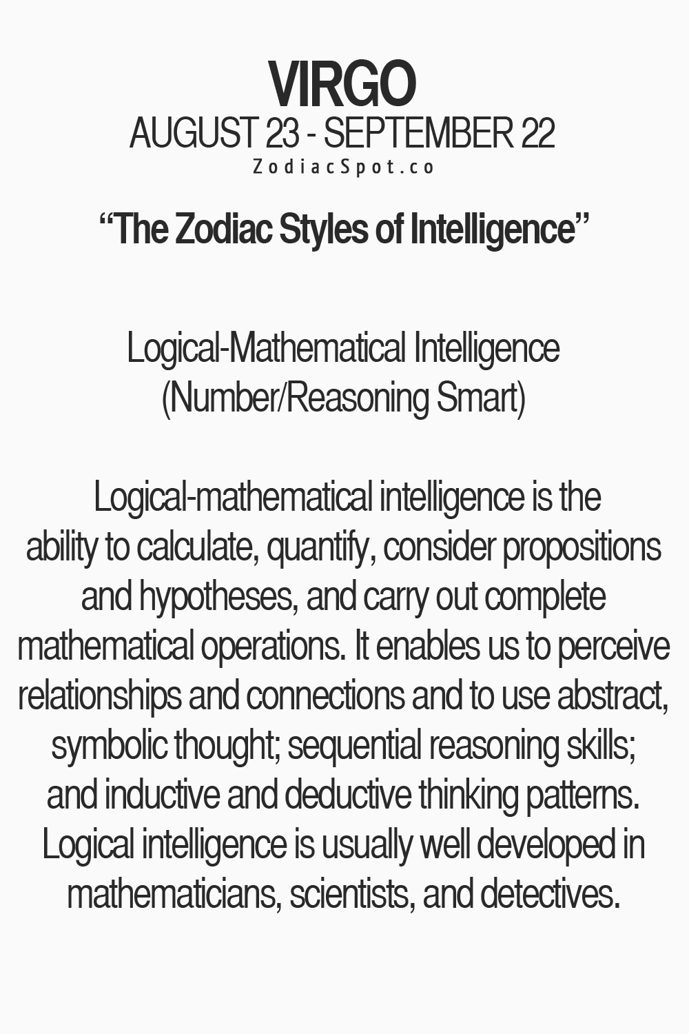 Zodiacspot View Your Style Of Intelligence Here Virgo C U S P