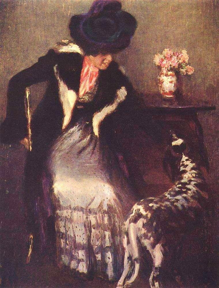 Igor Grabar (1871-1960) - Lady with a dog (1899)