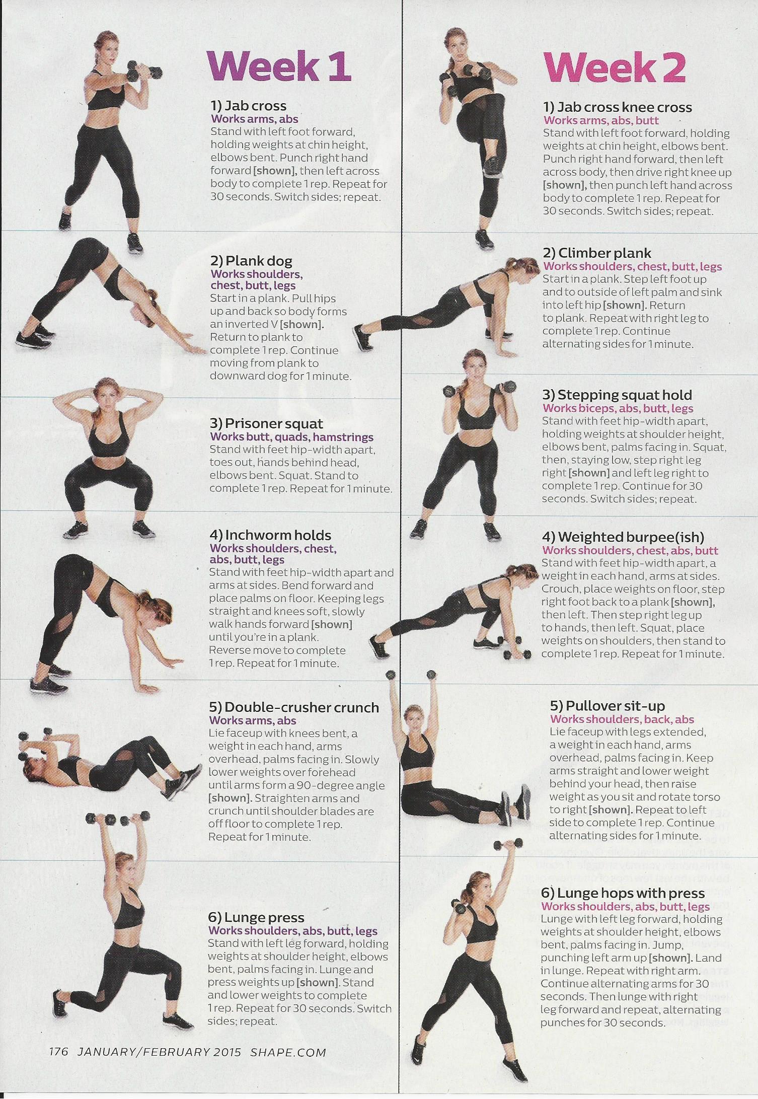 Jen Widerstrom Workout 001 Shape Magazine Workouts Shape Magazine Total Body Workout