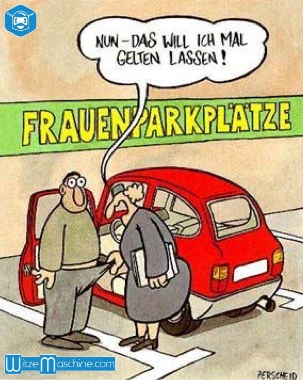 Mann darf auf Frauenparkplatz parken - Perverse Politesse