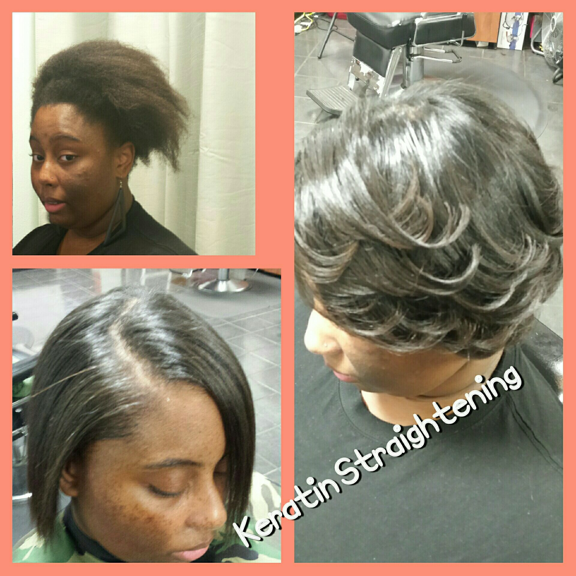Keratin Protein Hair Straightening Treatments At Trendz By Tammy Hair Salon Houston Pearland Tx Hair Straightening Treatment Black Hair Salons Hair Protein
