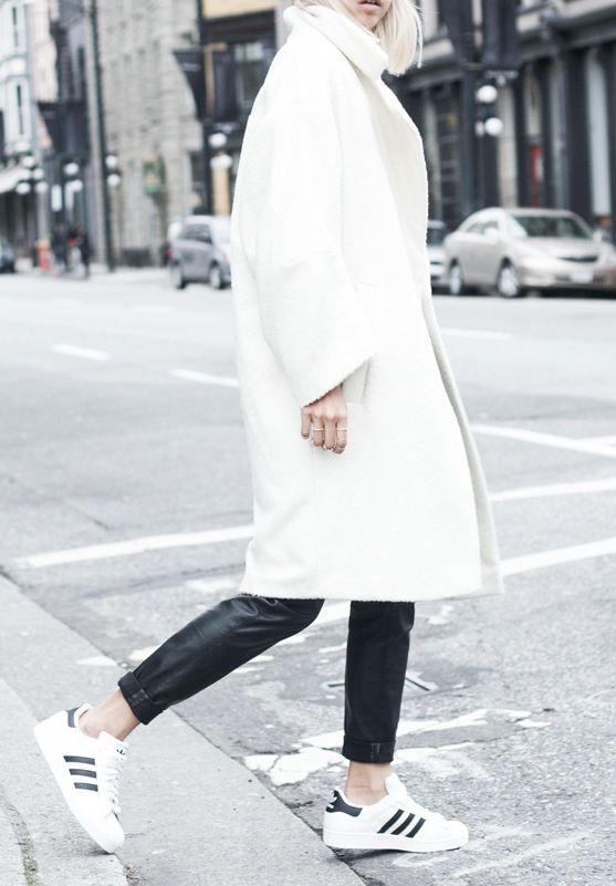 white adidas sneakers style