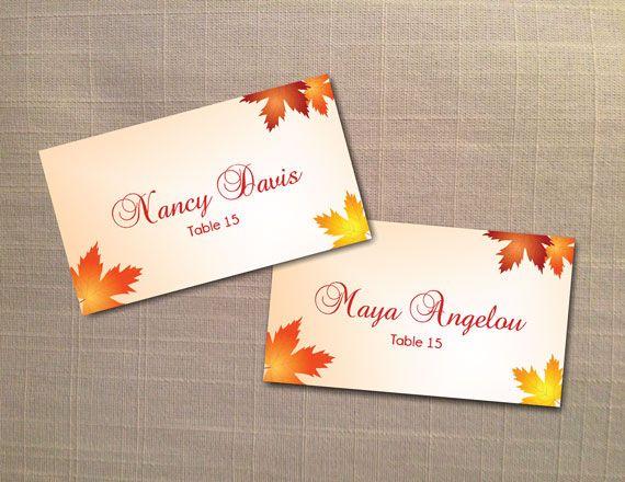 diy printable wedding place name card template editable ms
