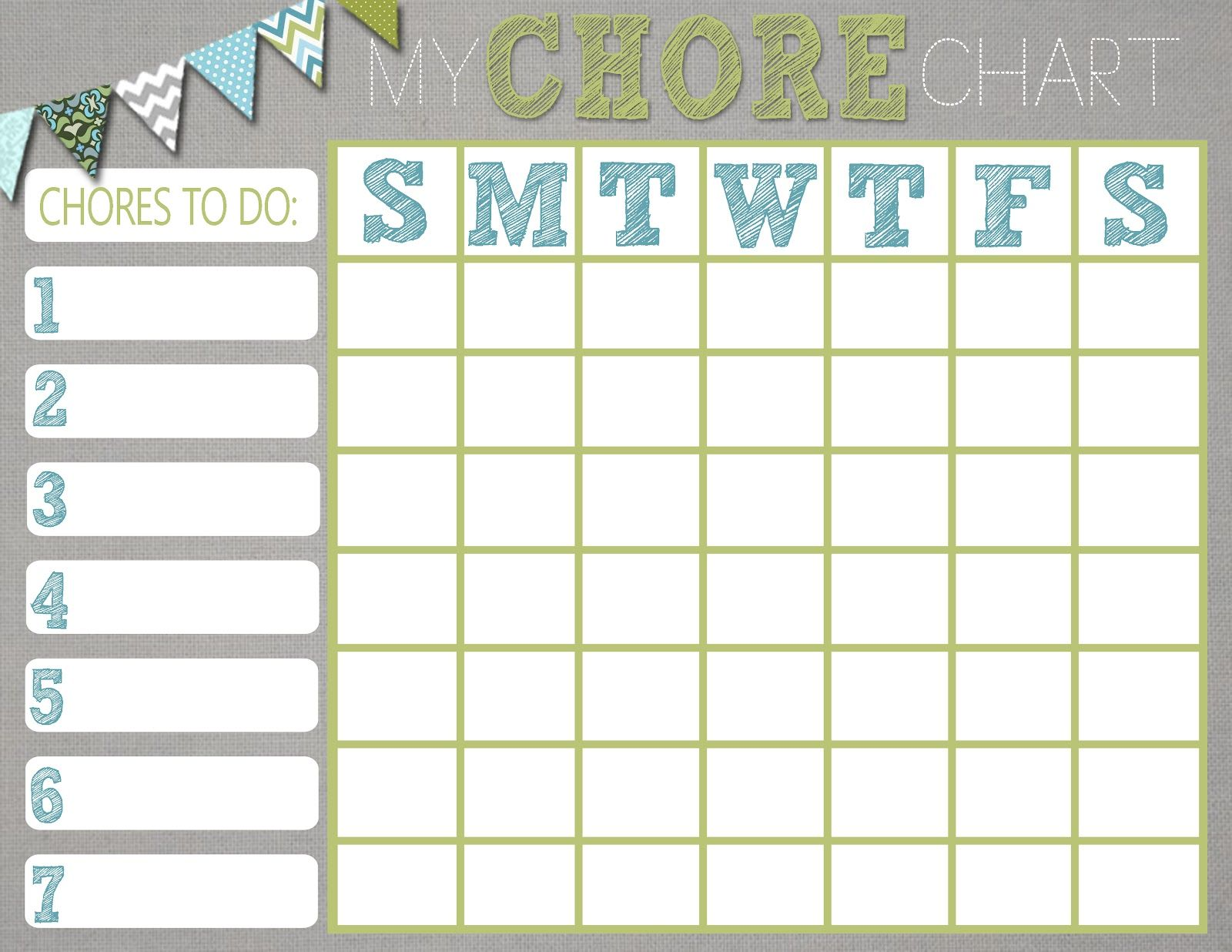 mrs this and that free chore chart printable kids