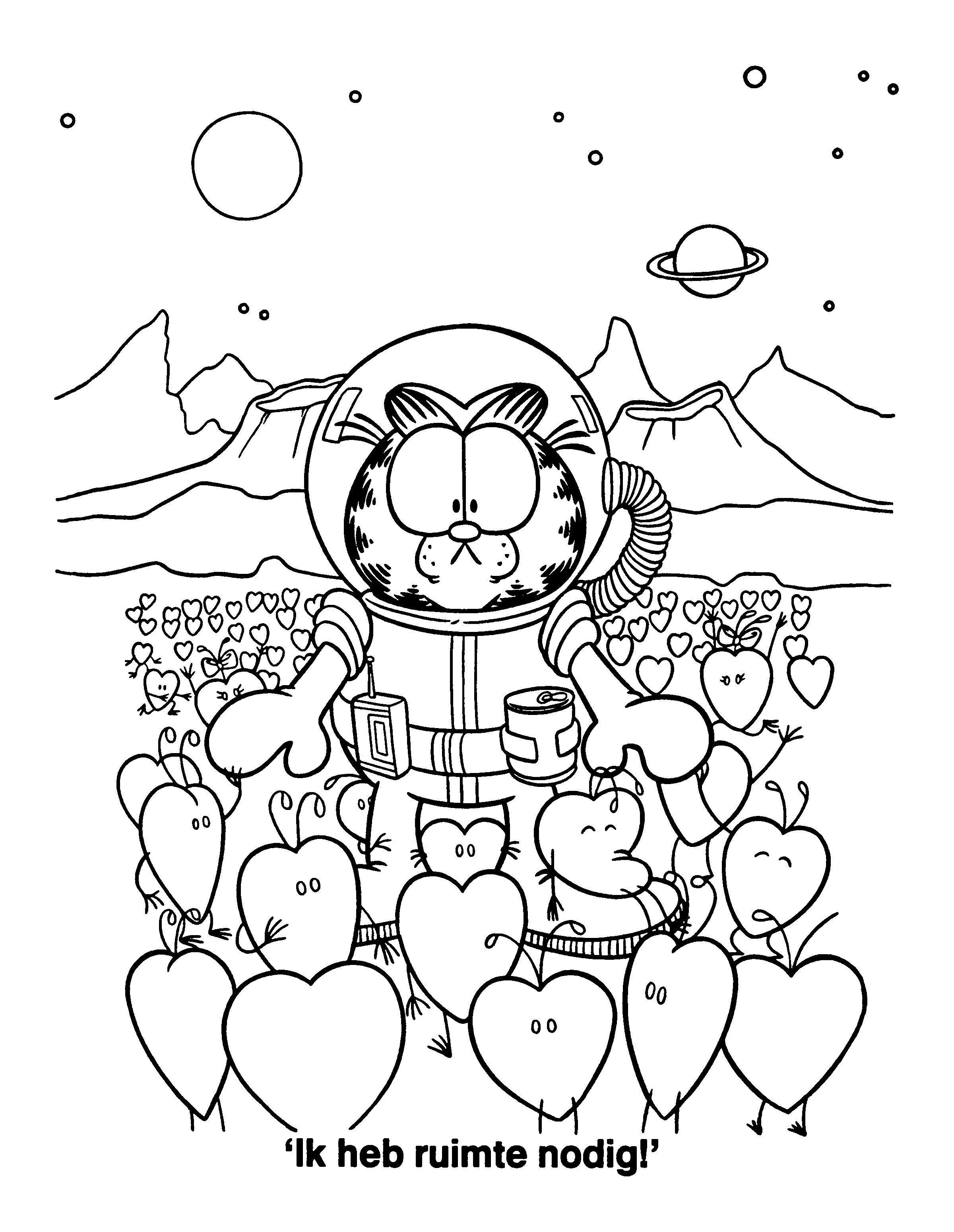 kleurplaat groep3 planeten sterren en