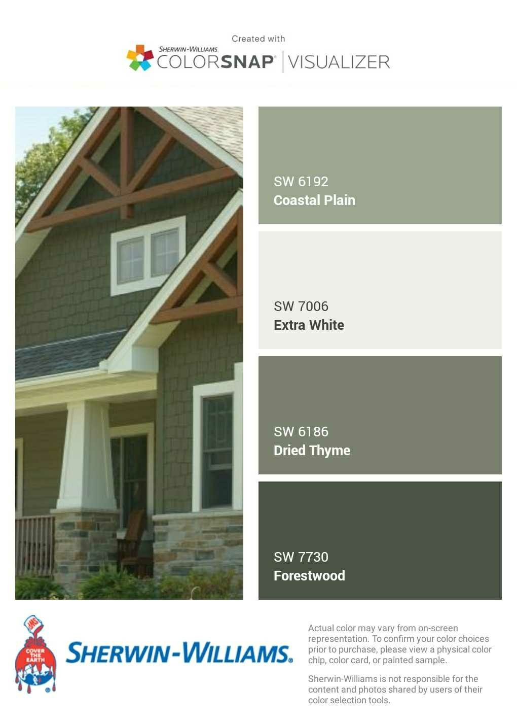 Earthy Greens Color Palette Colorfully Behr Exterior Paint Colors For House House Paint Exterior Paint Colors For Home