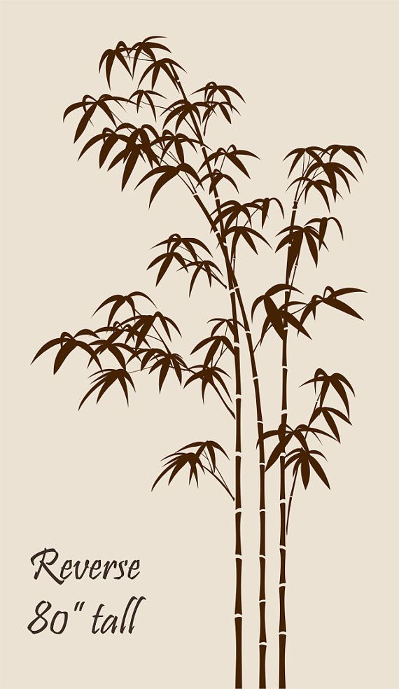 Bamboo wall decal bedroom living room large tree stickers for Bamboo wall art