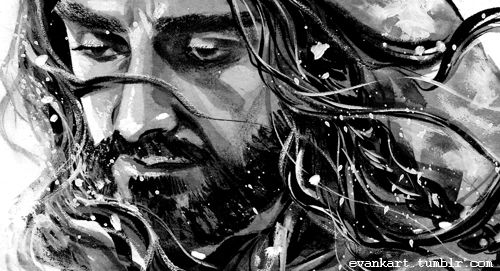 EVANKART — bit older than the first old king Thorin drawing...
