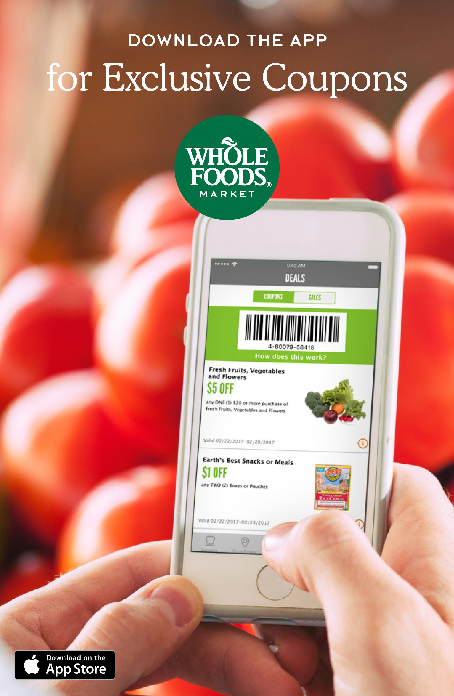 Sign Up And Save With Exclusive Coupons In The Whole Foods Market