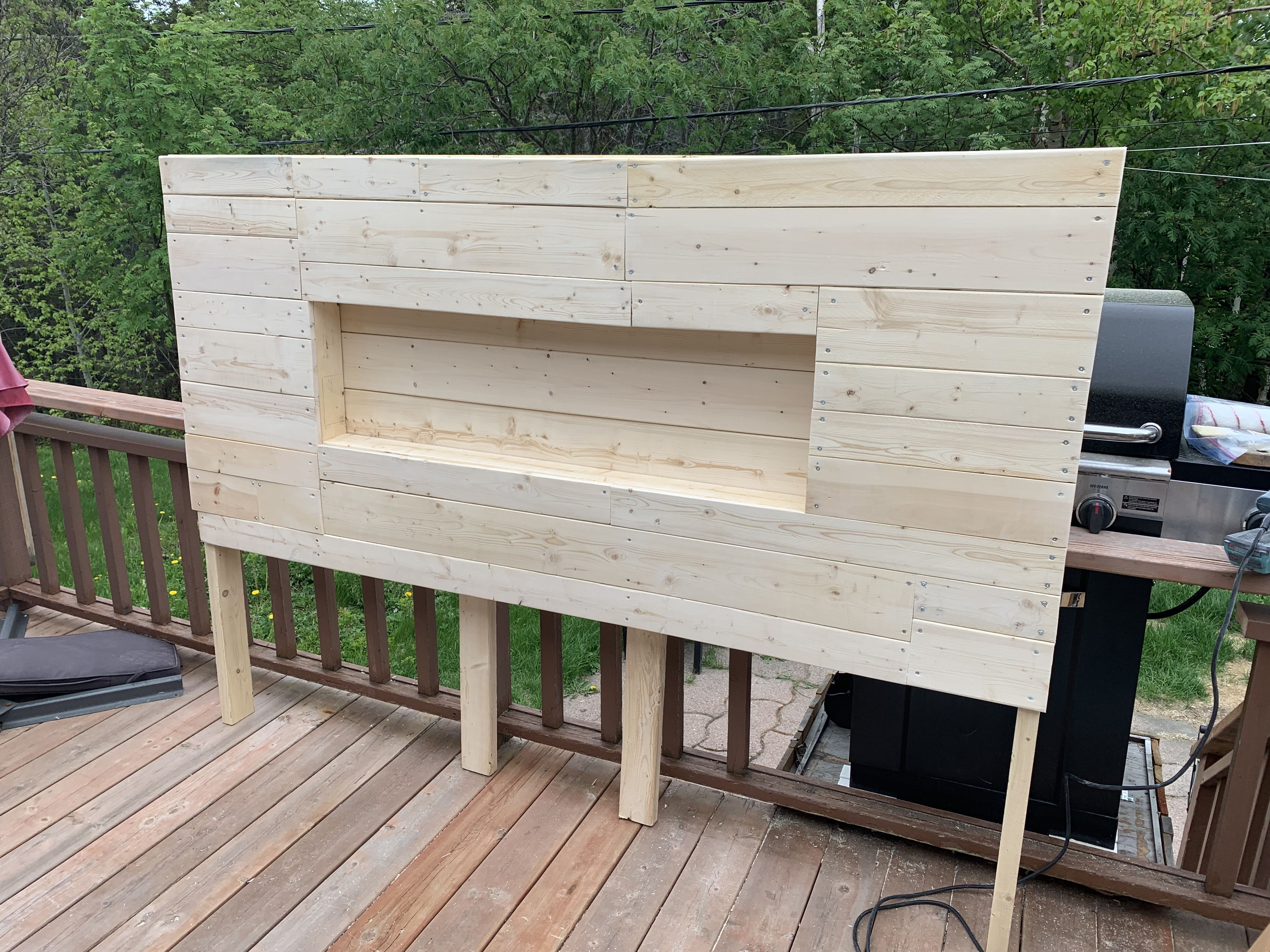 DIY Pine Headboard - King Size Bed | King headboard, King ...