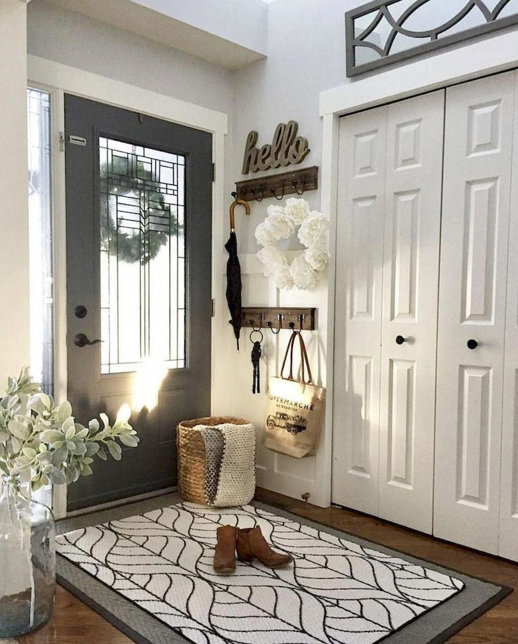 dream house ideas: 53 stunning rustic entryway decorating ...