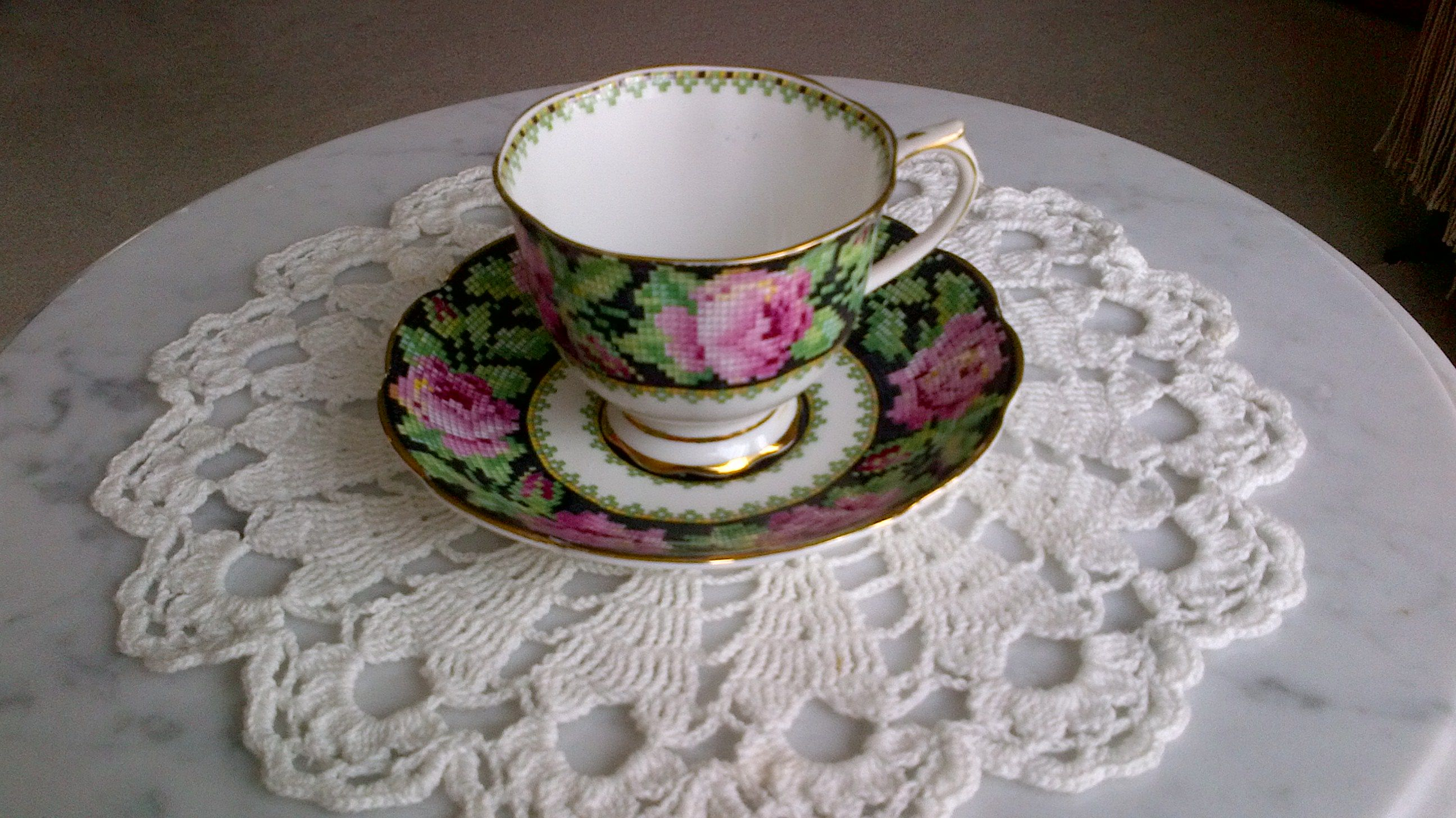 Royal Albert Needle Point bone china cup and saucer