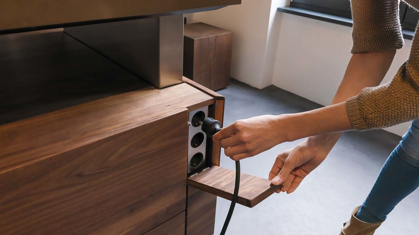 Kochinsel K7 Mit Integrierten Steckdosen Kitchen In 2019 Pinterest