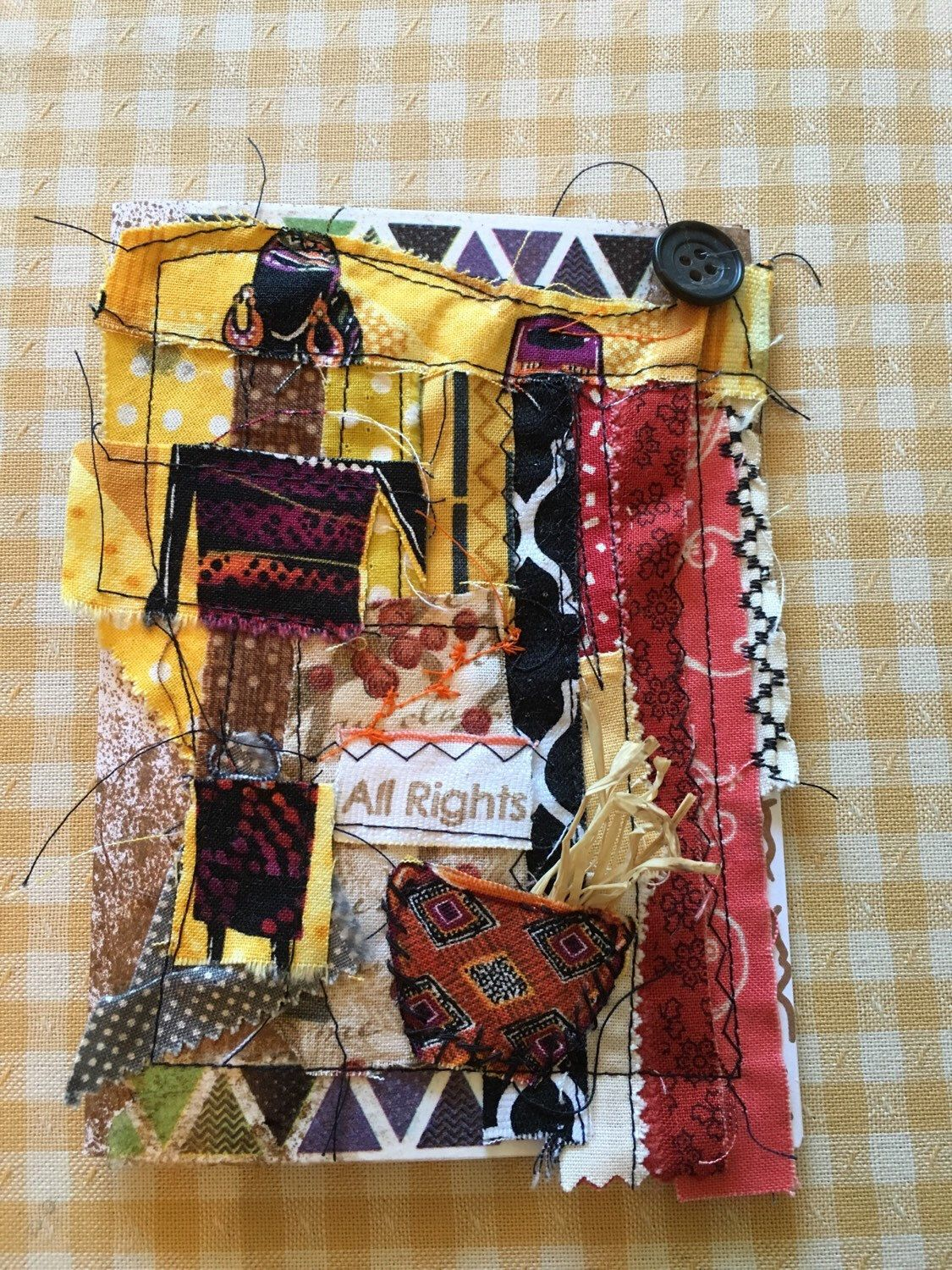 A personal favorite from my Etsy shop https://www.etsy.com/listing/289748357/mixed-media-fabric-greeting-card