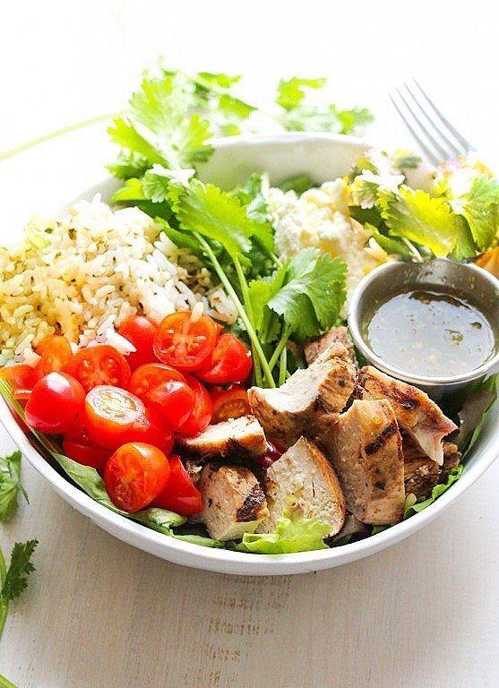 Salat fleisch gerichte