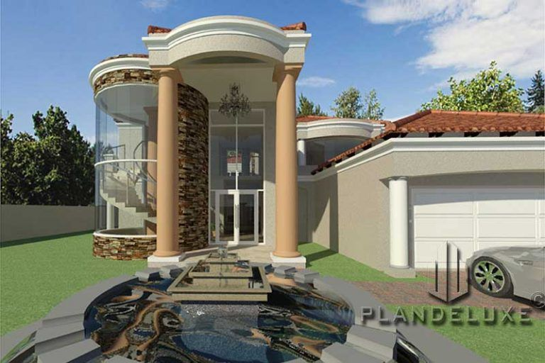 4 Bedroom Double Story House Plan Modern Home Designs Plandeluxe