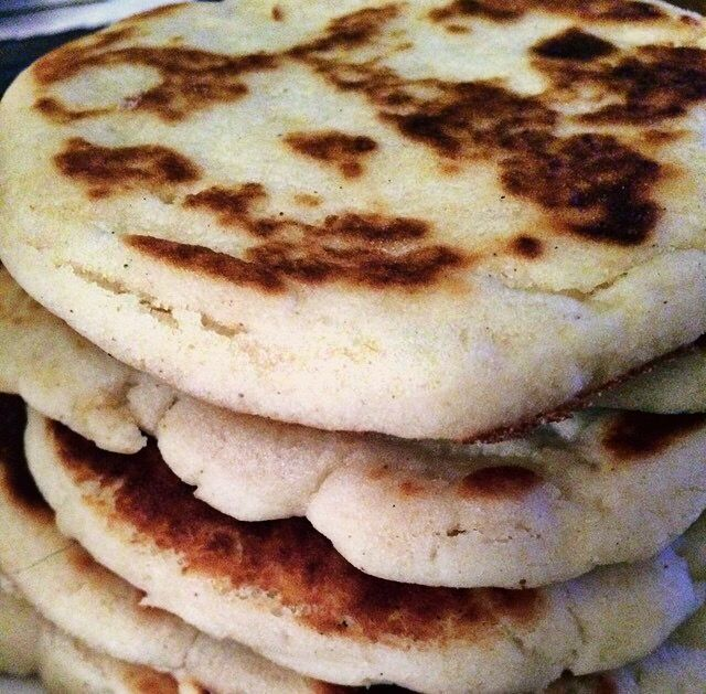 Homemade gluten free / dairy free naan. So, so good. using this recipe: http://www.sndwchsetc.com/?p=385